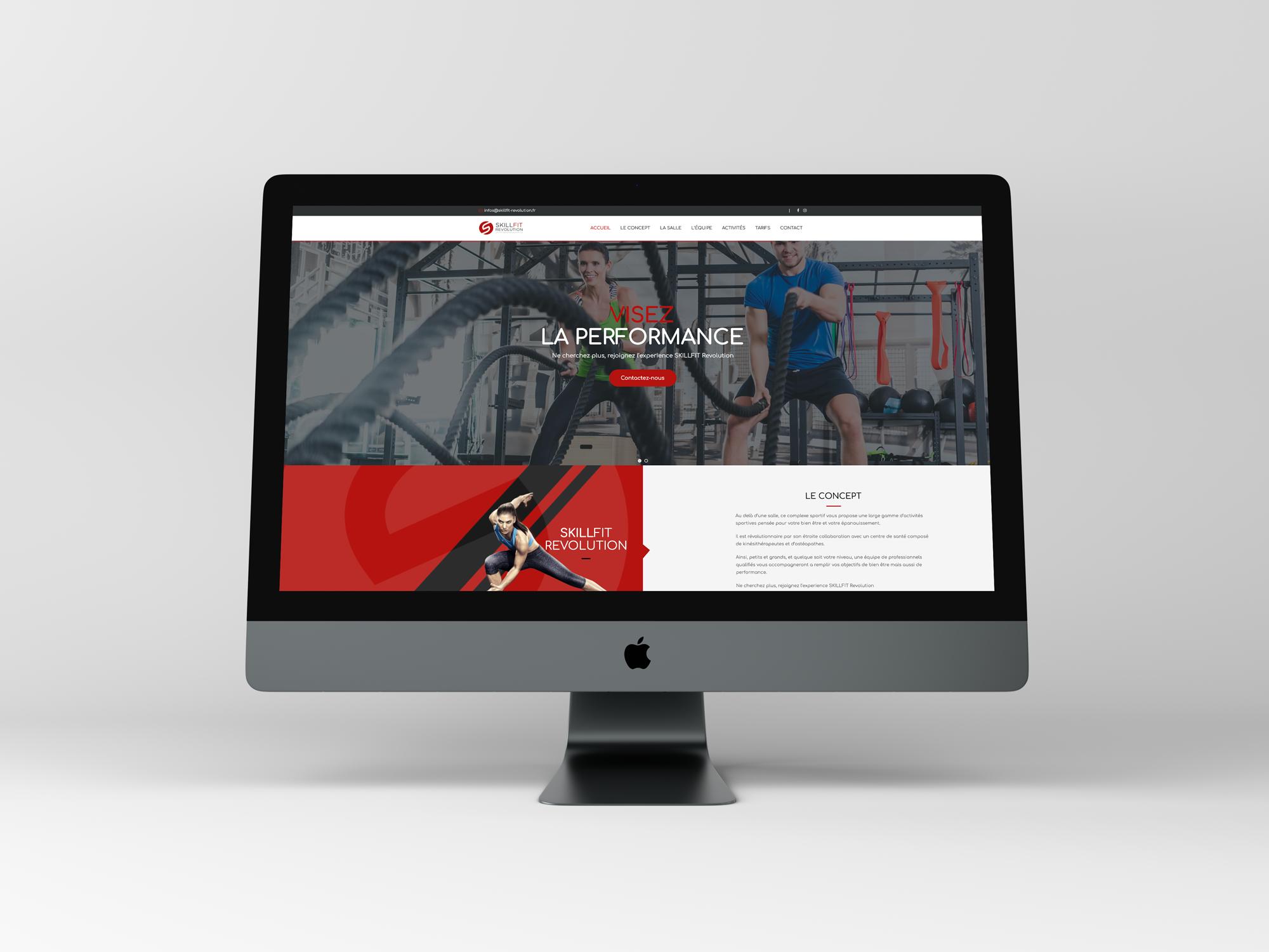 Site internet SkillFit Revolution