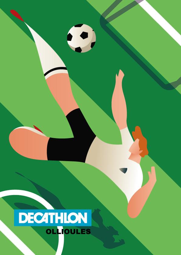 Affiche decathlon Allemagne