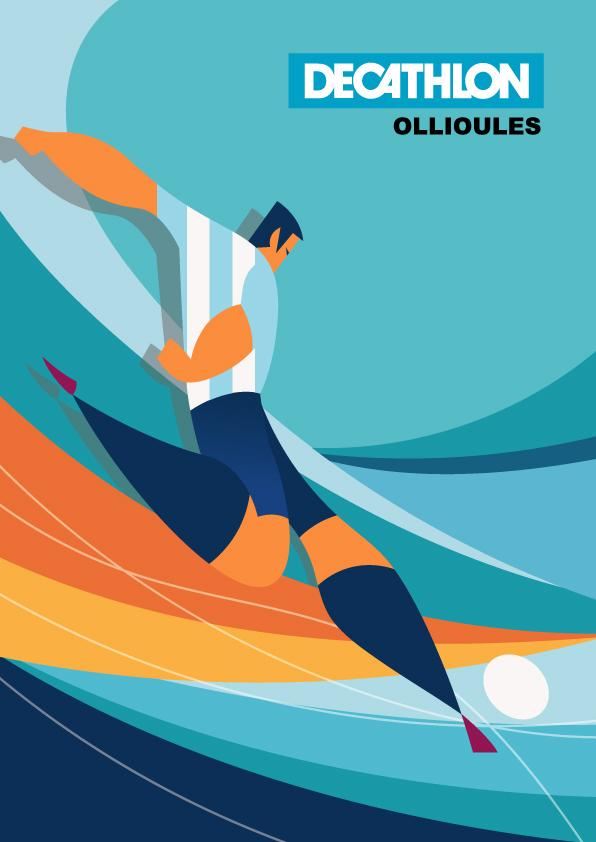 Affiche decathlon Argentine