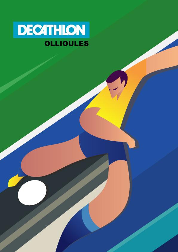 Affiche decathlon Brazil 2
