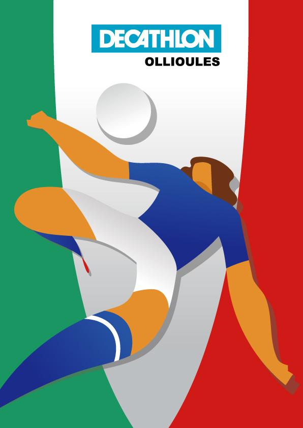 Affiche decathlon Italie