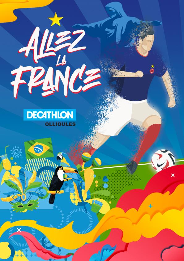 Affiche Decathlon Ollioules Coupe du monde 2014