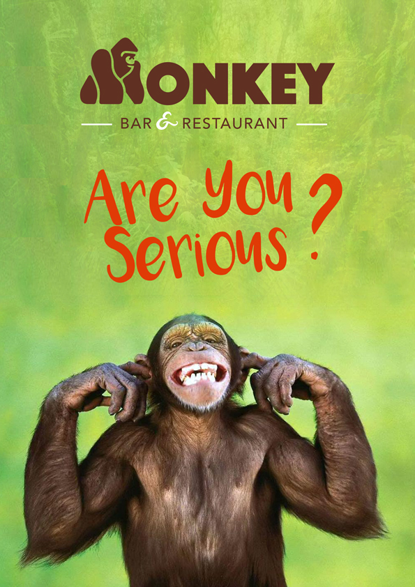 Affiche monkey bar singe sourri