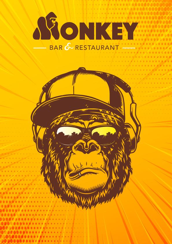 Affiche Monkey Bar Jaune