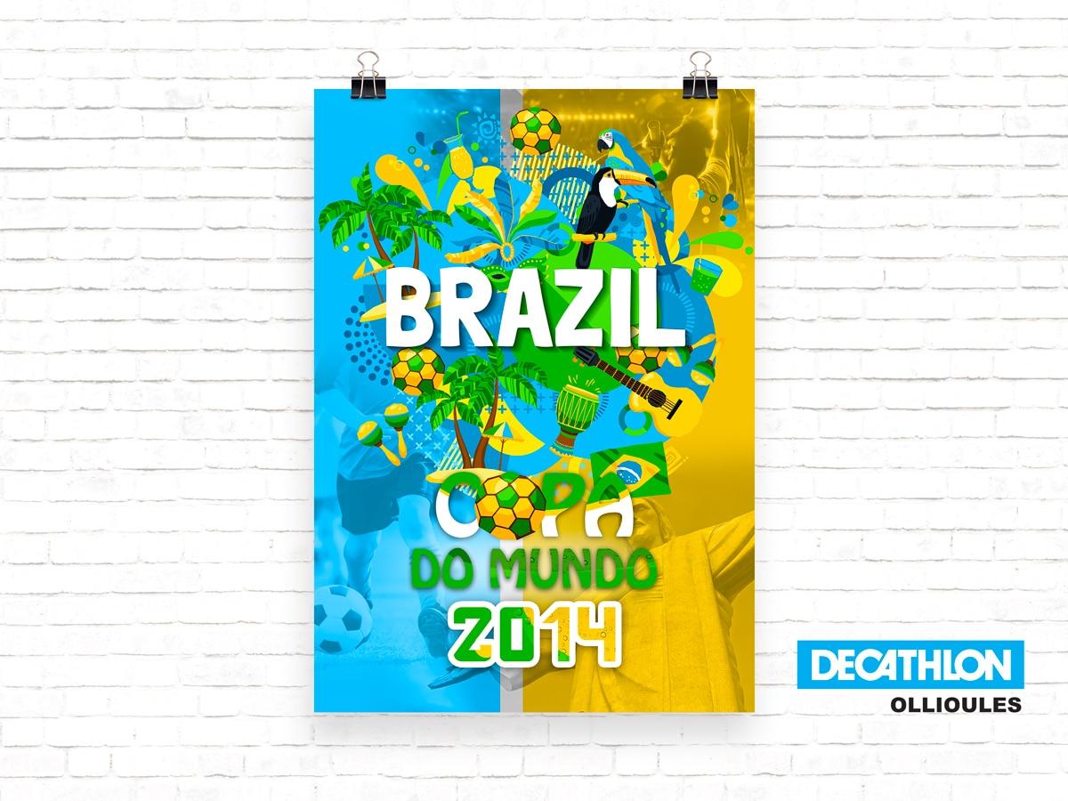 affiche Decathlon Coupe du monde 2014