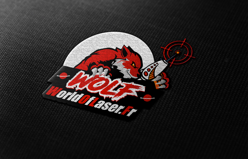 Logo World Of Laser Rouge