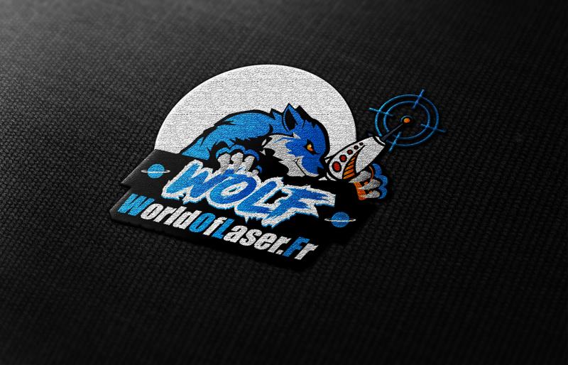Logo World Of Laser Bleu