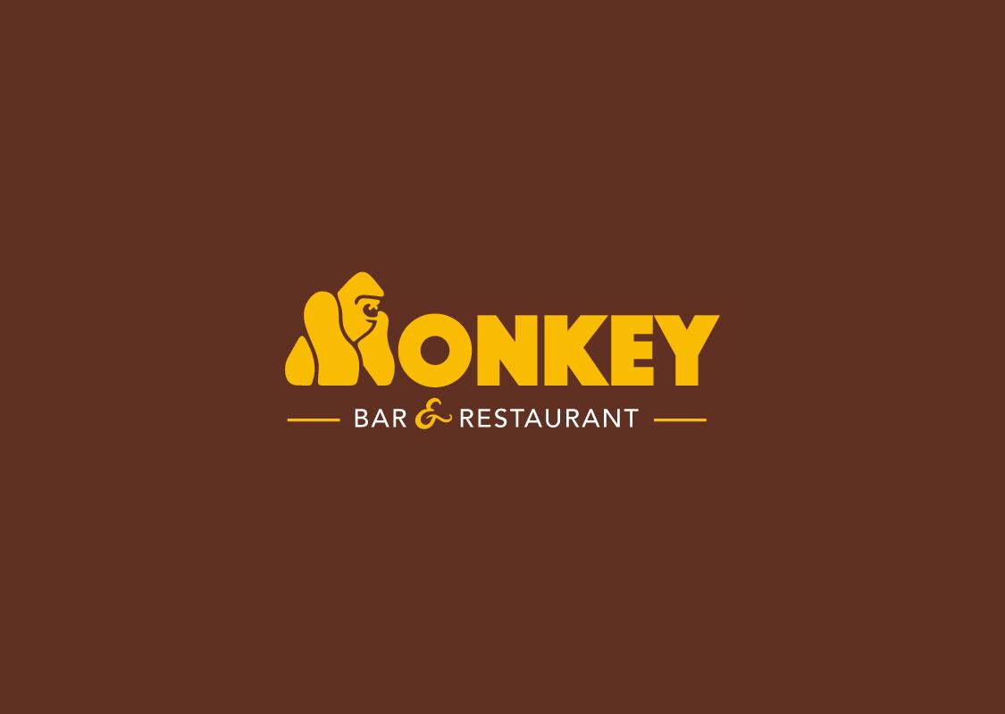Logo Monkey Bar Marron