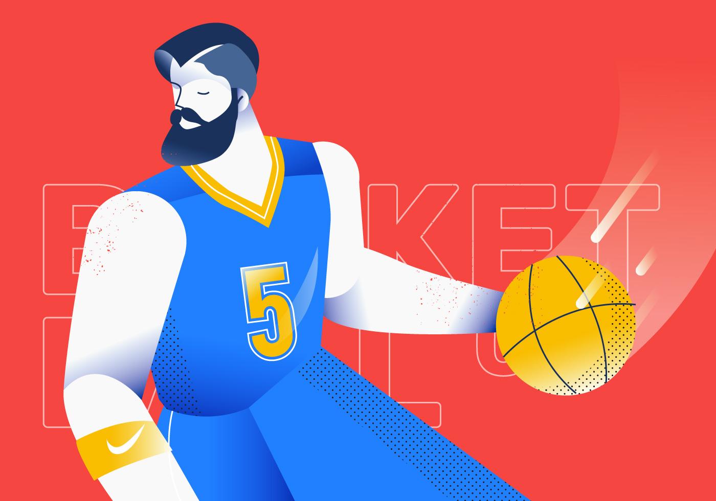 Basketball illustration joueur Moc 1