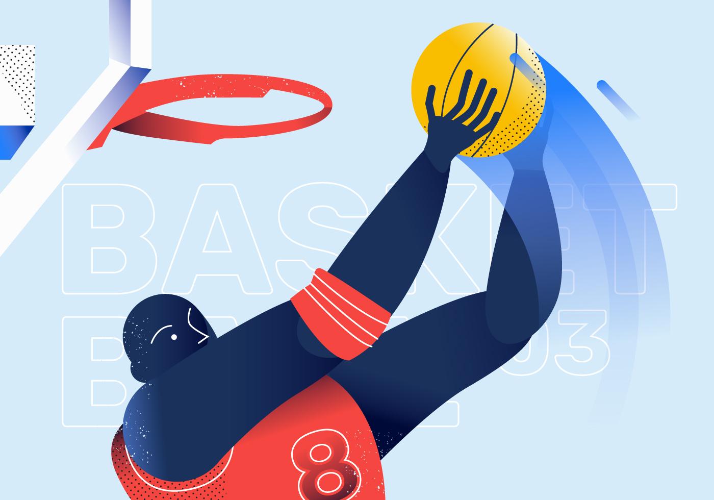 backetball illustration moc